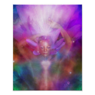 Healing Crown Chakra Fine Art Poster/Print Poster