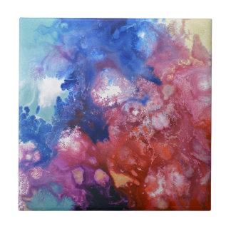 Healing Energies Canvas #1 Ceramic Tile