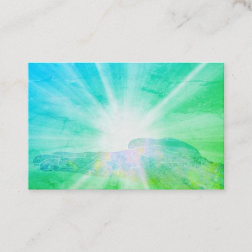 Healing Energy Hand Rays Of Light Healers Business Card