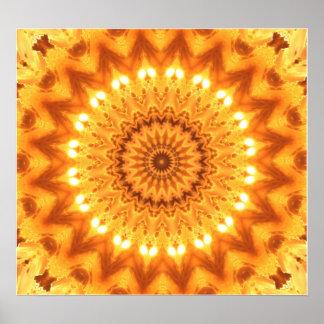 Healing Energy Mandala Poster