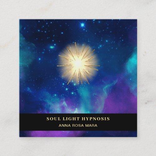 Healing Energy Sun Burst Universe Galaxy Stars Square Business Card