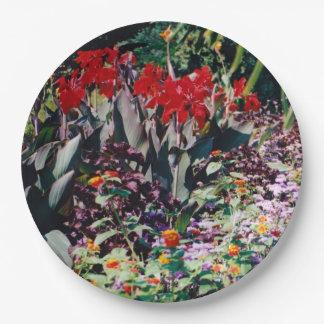 Healing Garden 9 Inch Paper Plate