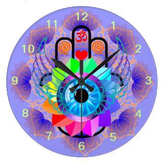 Healing Hamsa clock