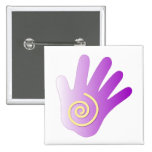Healing Hand - Purple 2 Inch Square Button