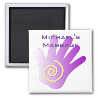 Healing Hand - Purple 2 Inch Square Magnet