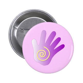 Healing Hand - Purple Pinback Button