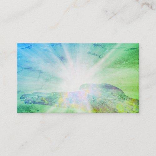 Healing Hand Rays Of Light Energy Healer Business Card