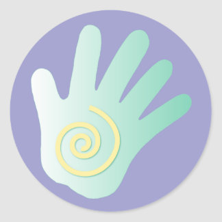 Healing Hand Classic Round Sticker