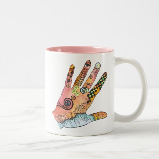 Healing Hand Two-Tone Coffee Mug