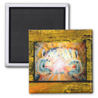 Healing Hands 2 Inch Square Magnet