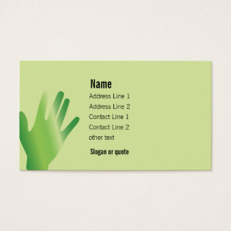 Healing Hands Business Card