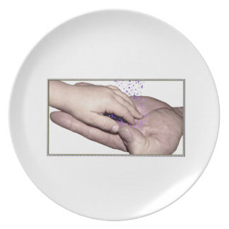 Healing Hands (father and son) Melamine Plate