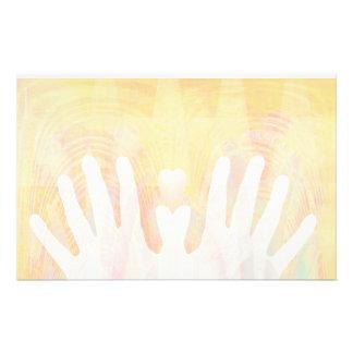 Healing Hands & Heart Light Stationery