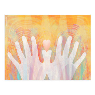 Healing Hands & Heart Vibrant Postcard