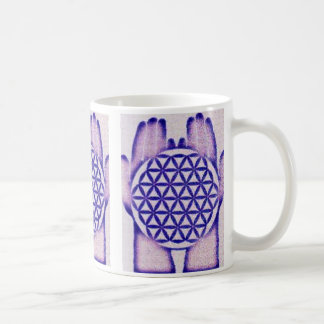 Healing Hands Holding Flower of Life. Coffee Mug