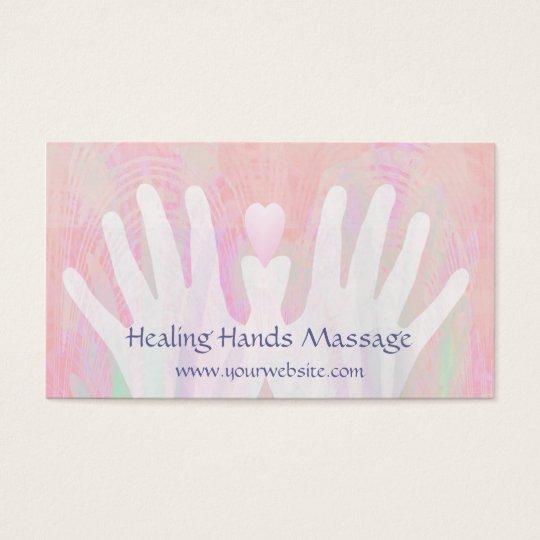 Healing Hands Light Pink Business Card