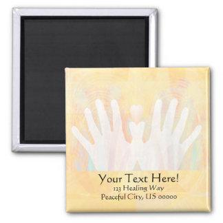 Healing Hands Light Yellow Magnet