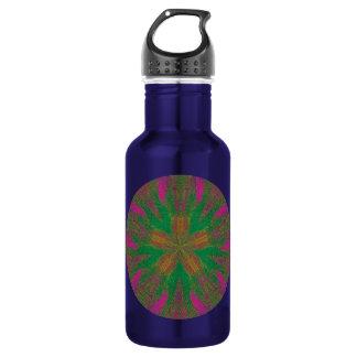 Healing Hands Mandala Stainless Steel Water Bottle
