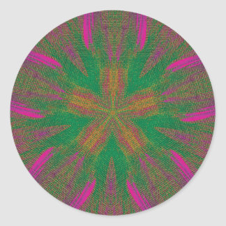 Healing Hands Mandala Round Sticker