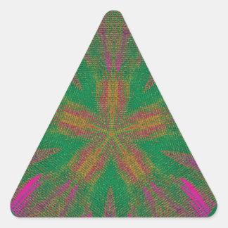 Healing Hands Mandala Triangle Sticker