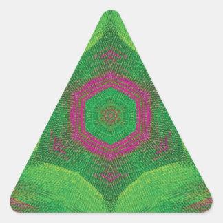 Healing Hands Mandala V2 Triangle Sticker