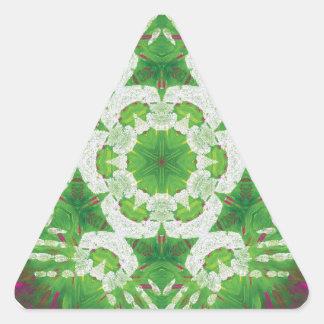 Healing Hands Mandala V3 Triangle Sticker