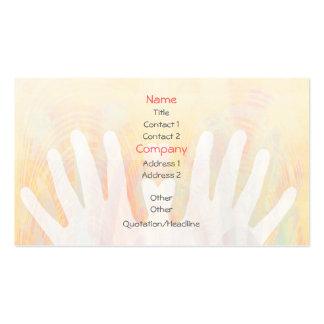 Healing Hands Massage Business Card Pack Of Standard Business Cards