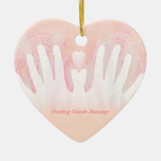 Healing Hands Massage Ceramic Ornament