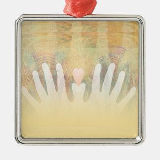 Healing Hands Massage Metal Ornament