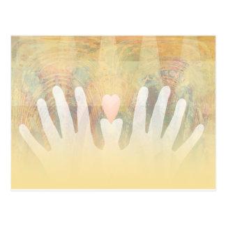Healing Hands Massage Postcard