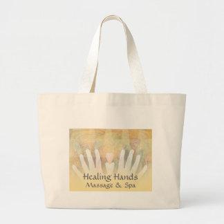Healing Hands Massage & Spa Jumbo Tote Bag