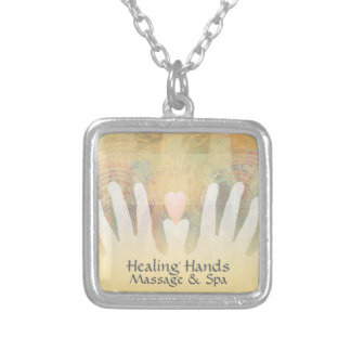 Healing Hands Massage & Spa Silver Plated Necklace