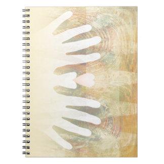 Healing Hands Massage Spiral Notebook