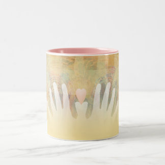 Healing Hands Massage Two-Tone Coffee Mug