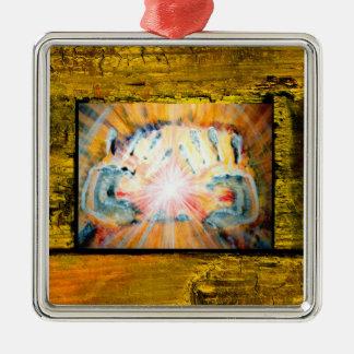 Healing Hands Metal Ornament