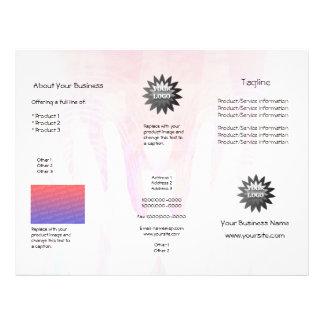 Healing Hands Pink Blend Brochure Flyers