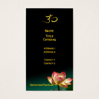 HEALING HANDS/PINK LOTUS IN BLOOM BUSINESS CARD