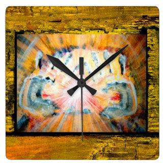 Healing Hands Square Wall Clock