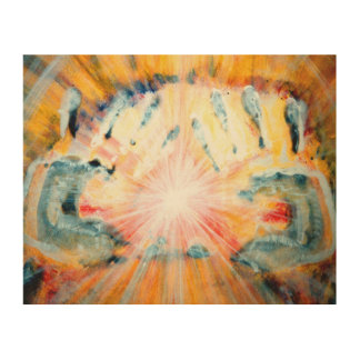 Healing Hands Wood Wall Art