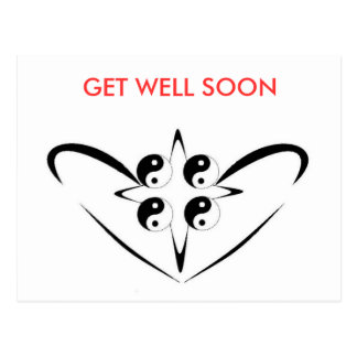 healing Hart, GET WELL SOON Postcard