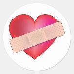 Healing Heart Classic Round Sticker