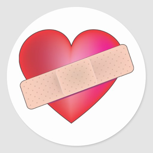 Healing Heart Round Stickers