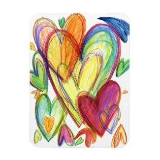 Healing Hearts Art Magnets