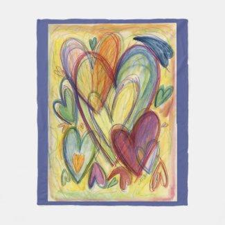Healing Hearts Custom Fleece Throw Blankets