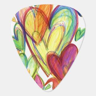 Healing Hearts Guitar Pick