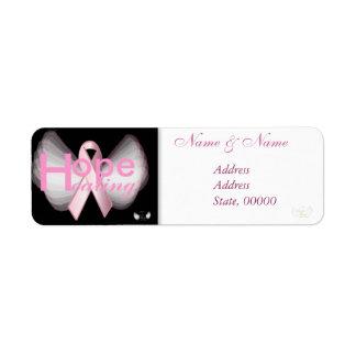 Healing Hope Pink Ribbon Angelic Address Label