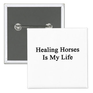 Healing Horses Is My Life 2 Inch Square Button