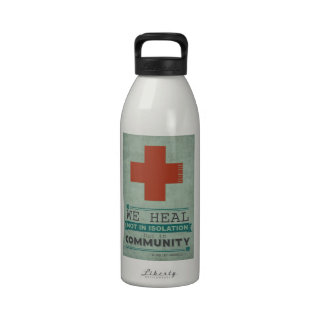 Healing in Community Drinking Bottles
