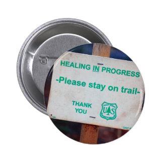 Healing In Progress Buttons