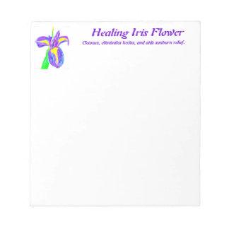 Healing Iris Flower Memo Pads